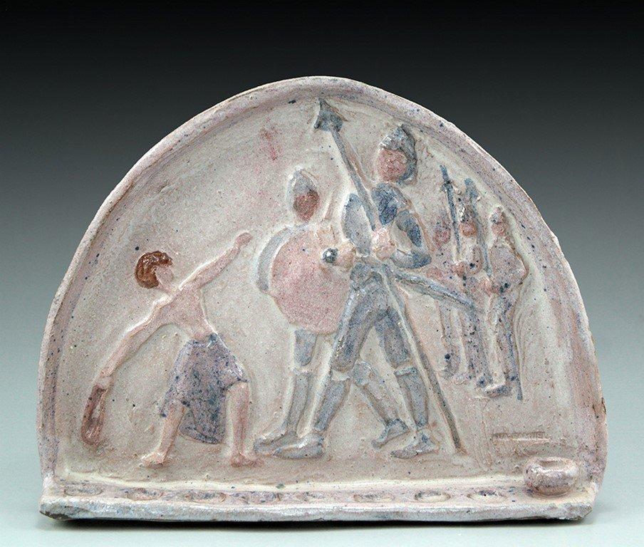 Eva Samuel Israeli pottery menorah