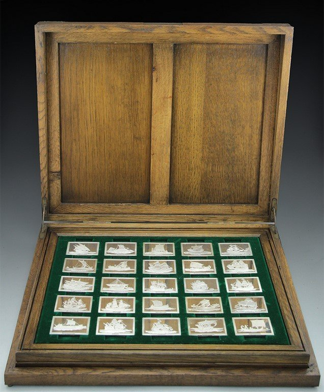 Franklin Mint silver medals set