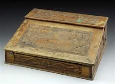 C.1900 Jerusalem Olivewood Writing Box