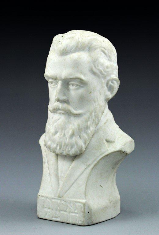 Theodor Herzl bisque sculpture