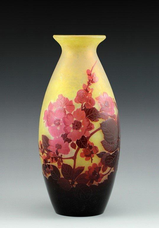 A Gallé cameo vase