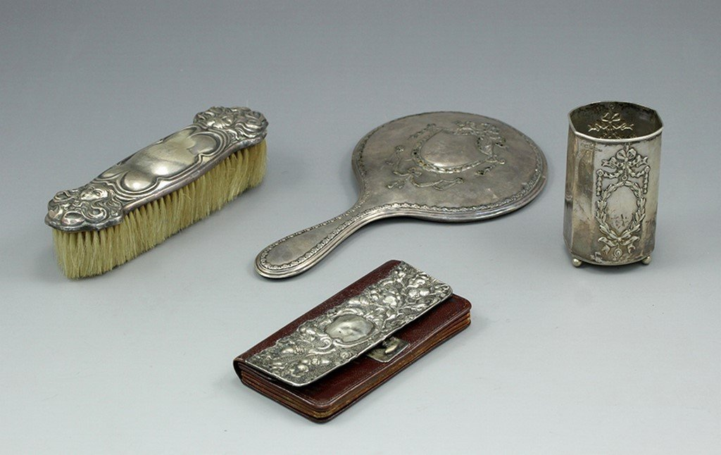 Lot of c. 1900 English Sterling silver items
