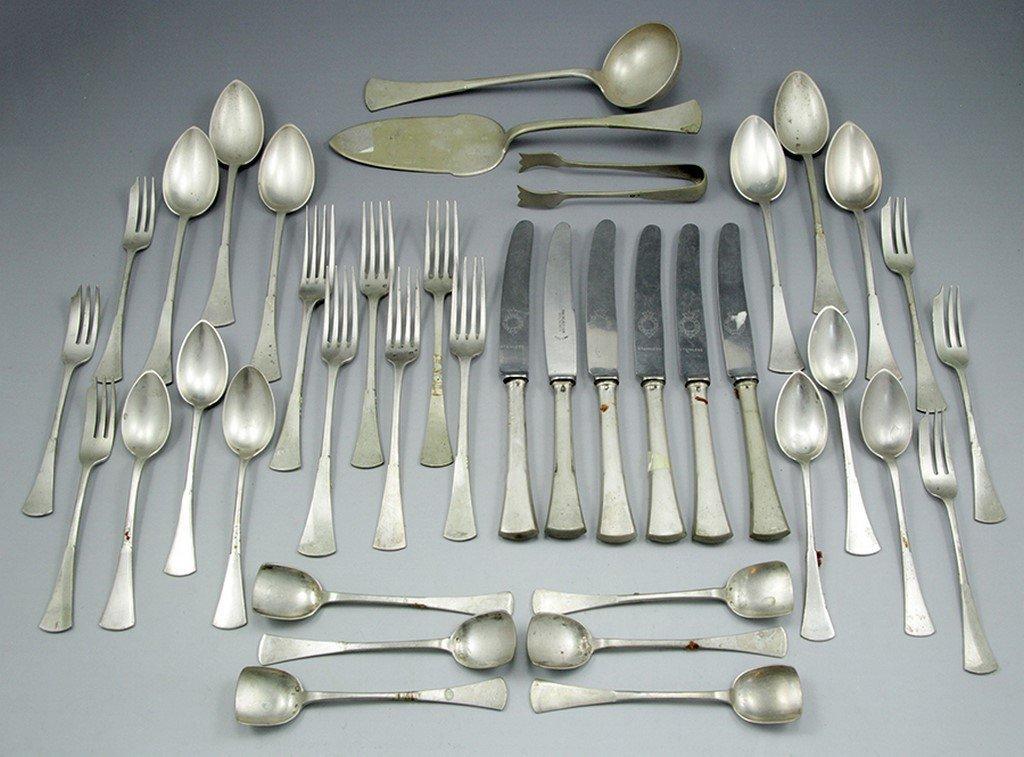 Set of Polish silver cutlery