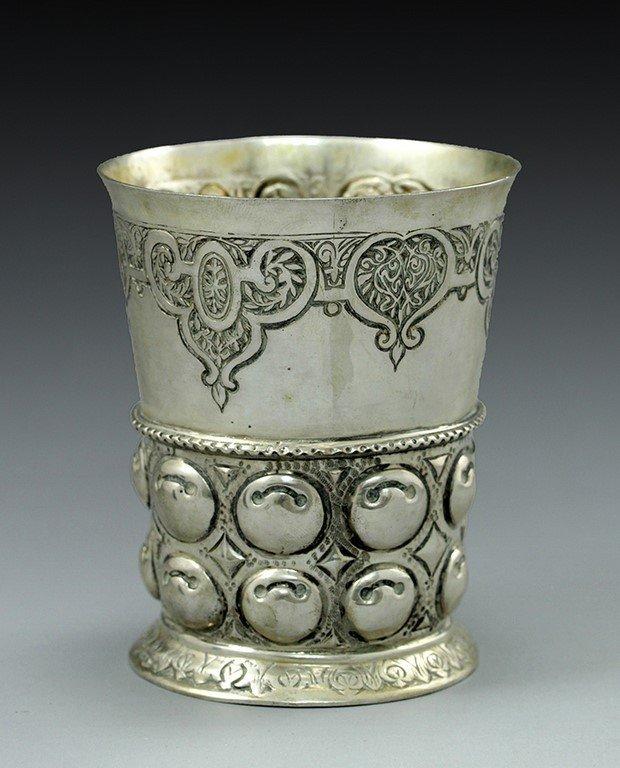 Antique German silver cup