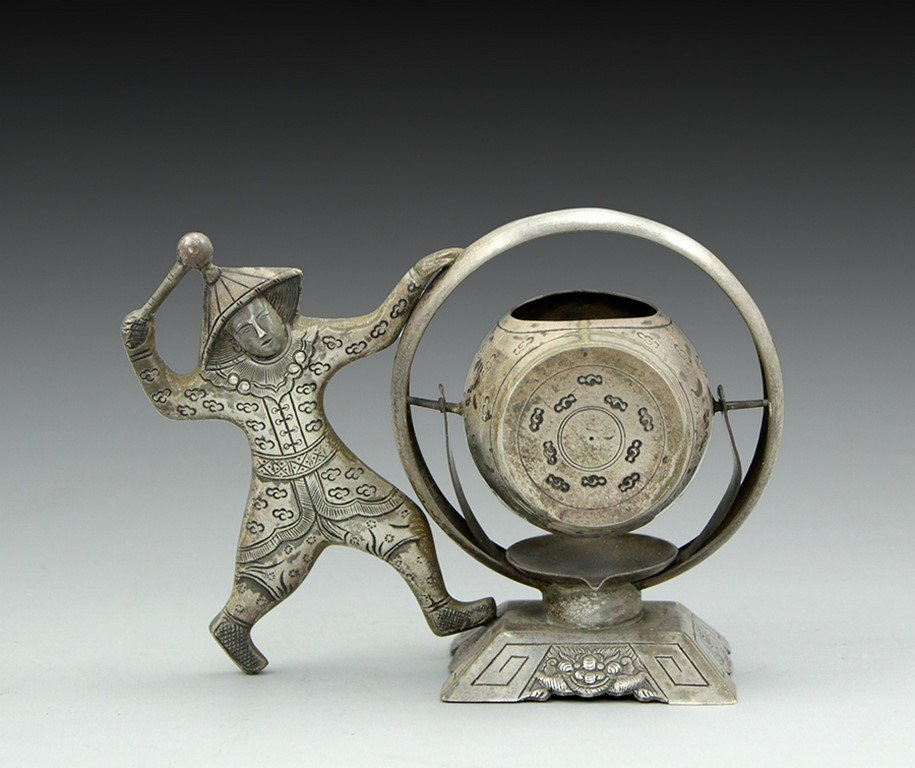 Vietnamese silver tea sifter