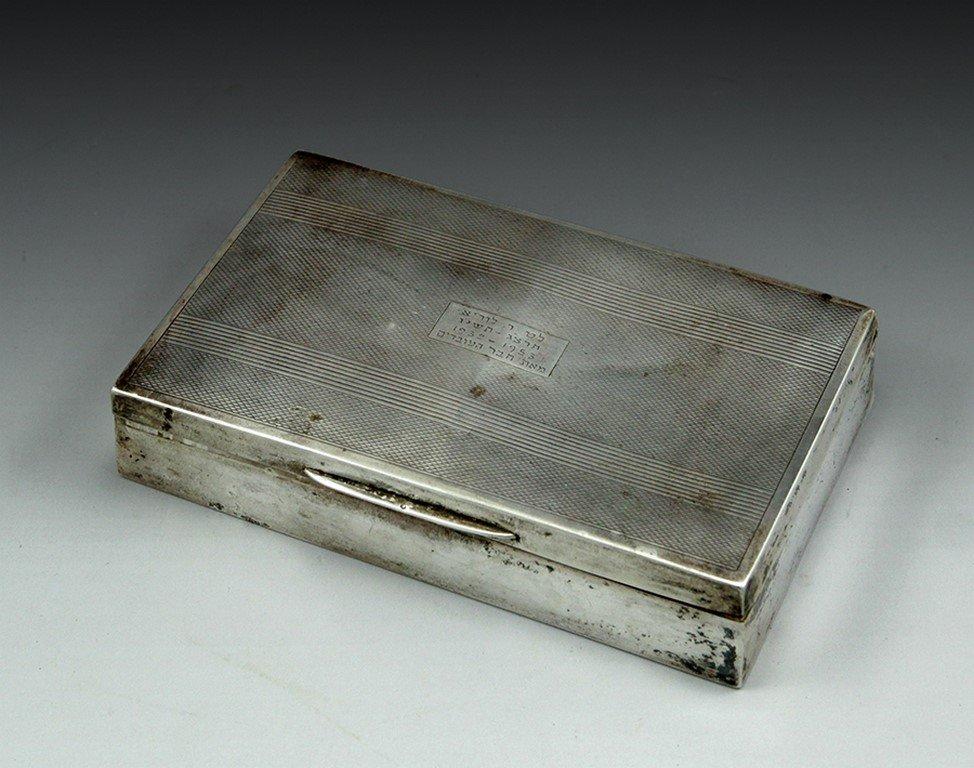 English sterling silver box