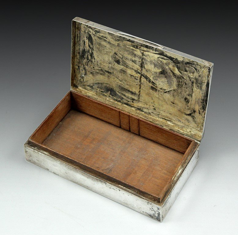 English sterling silver box - 2
