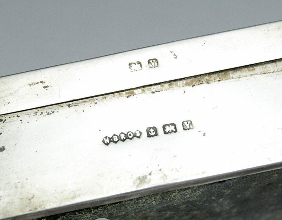 English sterling silver box - 4