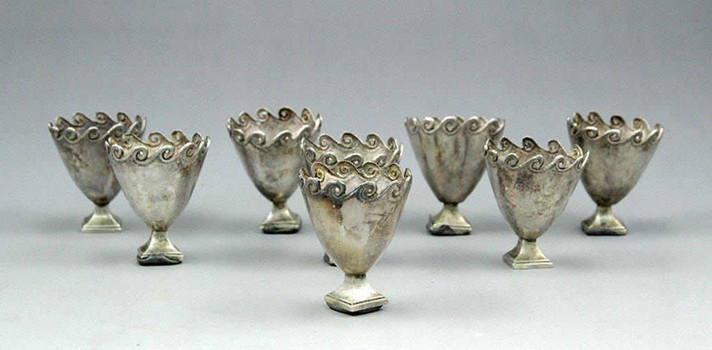 Set of eight Ottoman Zarf cups - 2