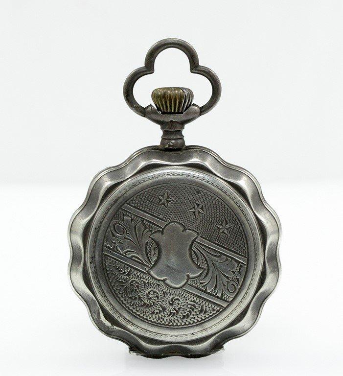 A silver Ancre 1/2 Chronometre pocket watch