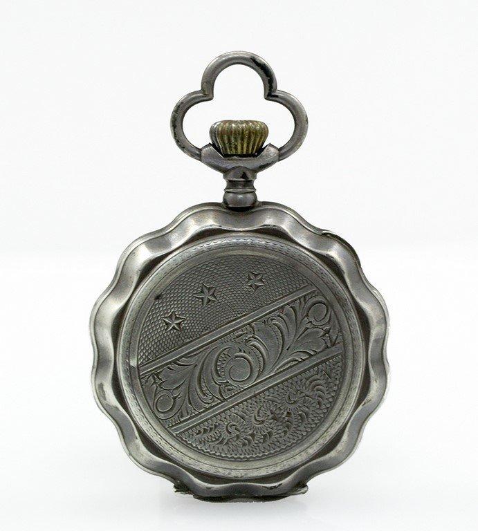 A silver Ancre 1/2 Chronometre pocket watch - 2