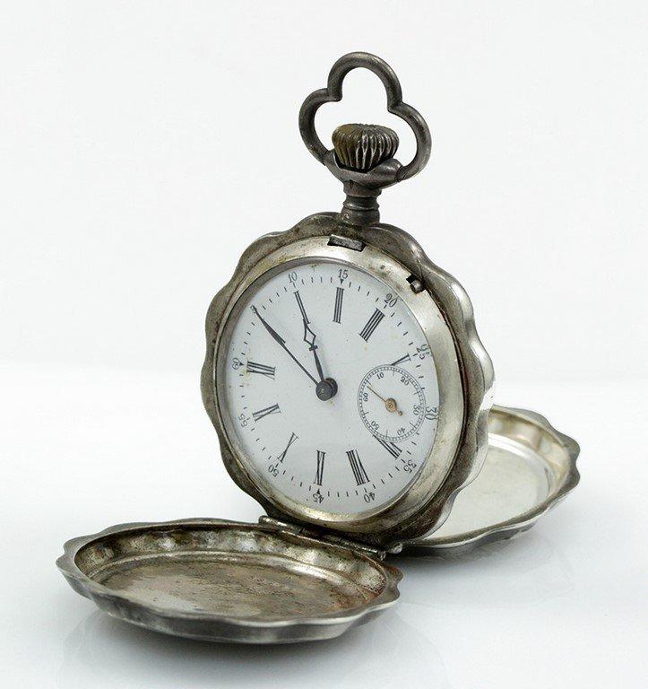 A silver Ancre 1/2 Chronometre pocket watch - 3