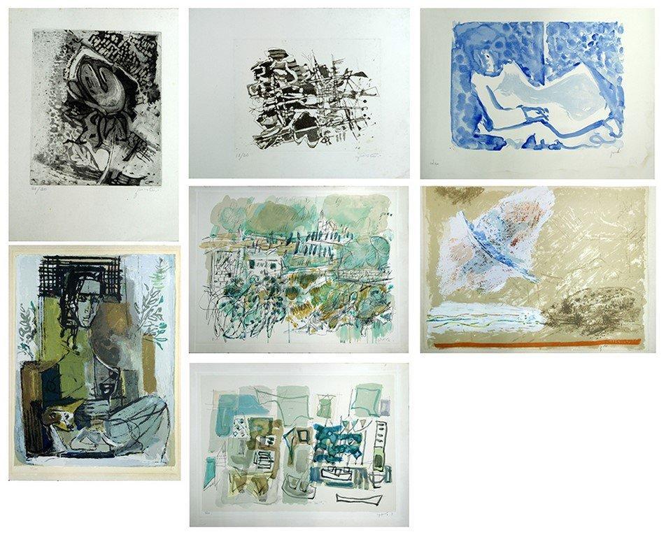 Yehezkel Streichman, Avigdor Stematsky, lot 7 prints