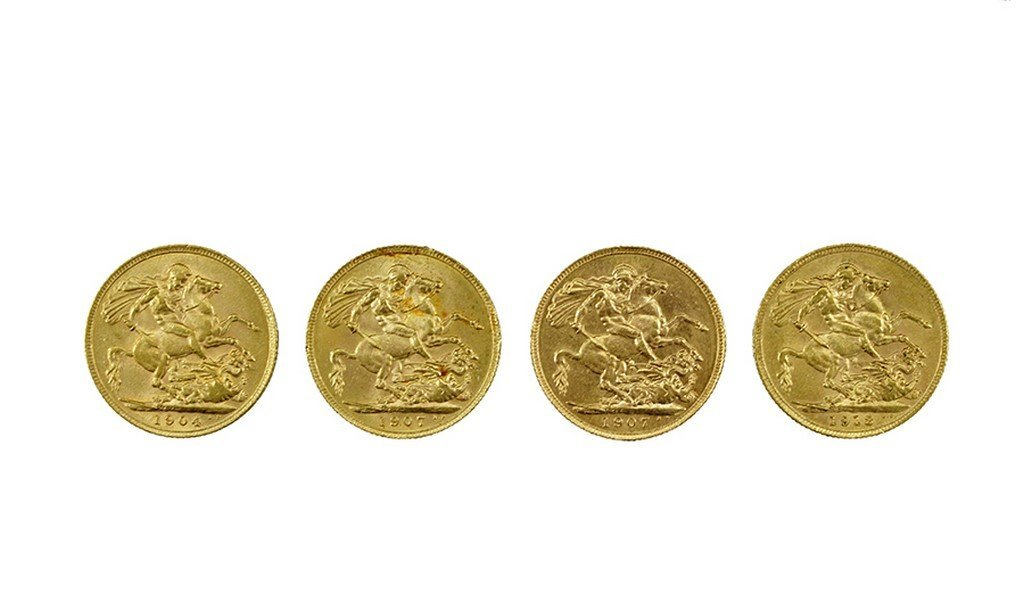 Lot of four British sovereigns