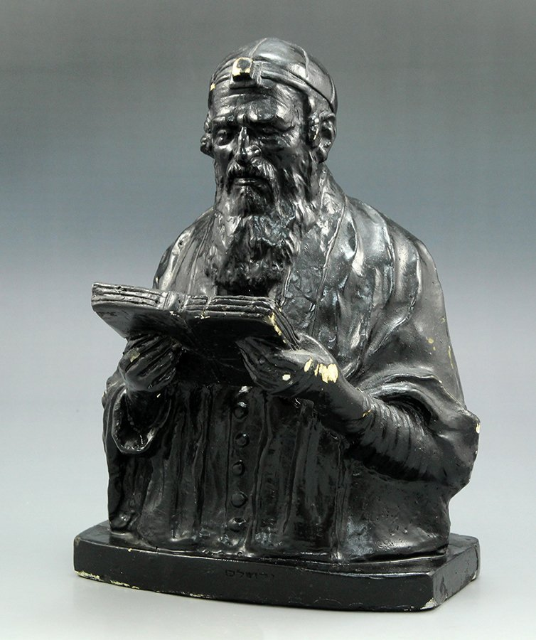 A plaster figure in the shape of a Jewish man