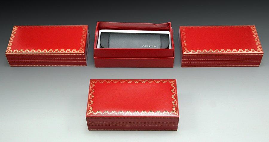 Lot three Must De Cartier glasses boxes
