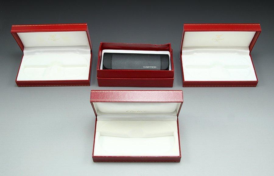 Lot three Must De Cartier glasses boxes - 2