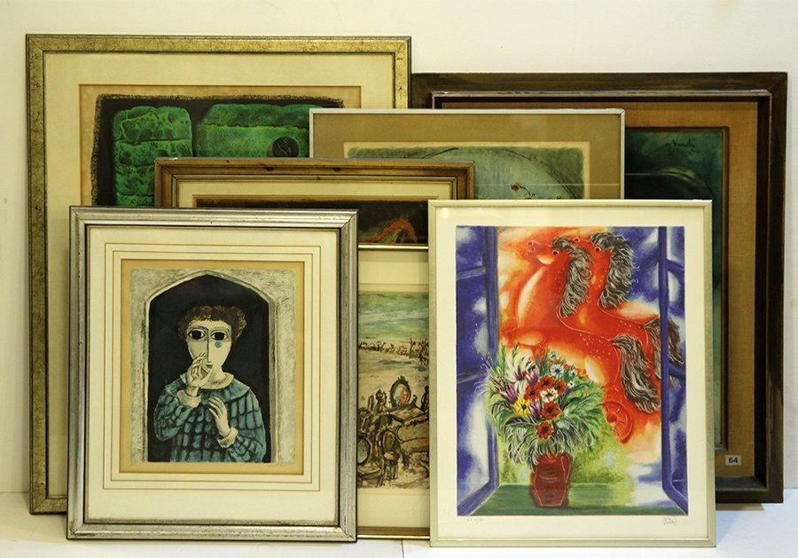 Lot six lithographs