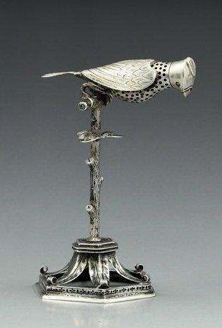 19th century Jewish silver spice holder