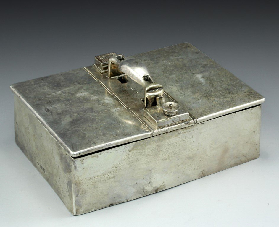 Victorian silver cigar case