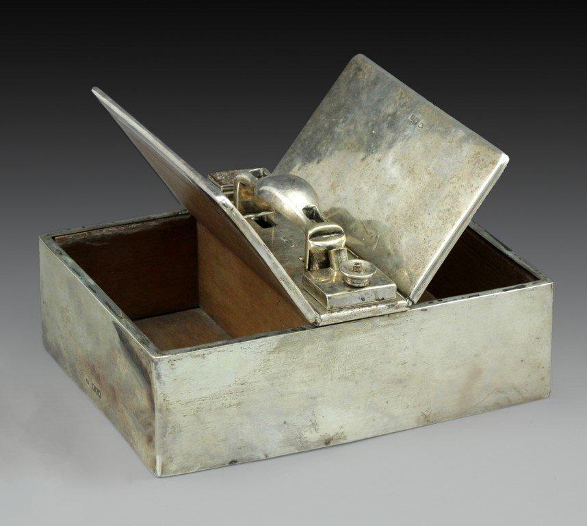 Victorian silver cigar case - 2