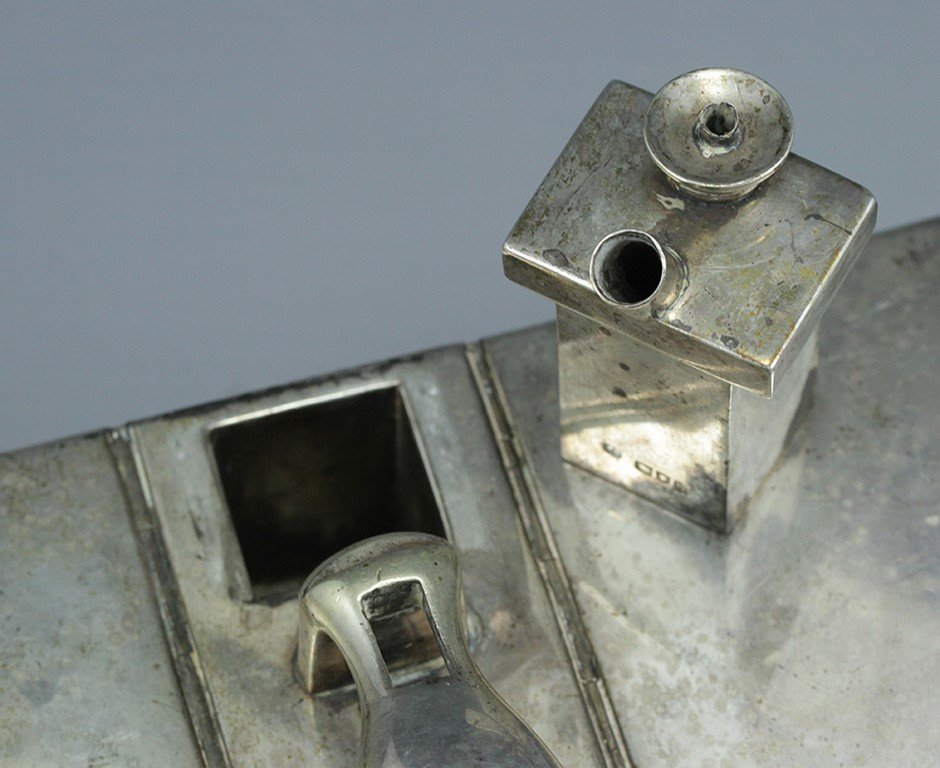 Victorian silver cigar case - 4