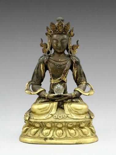 Chinese-Tibetan 18th century gilded bronze Vajradhara