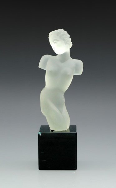Neoclassical Style Glass Statue