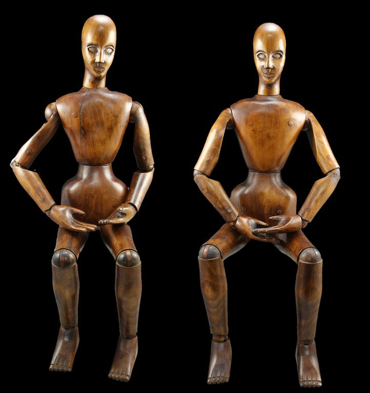 A Pair of French Artist's Lay Figures