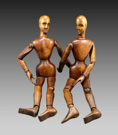 A Pair of French Artist's Lay Figures - 2