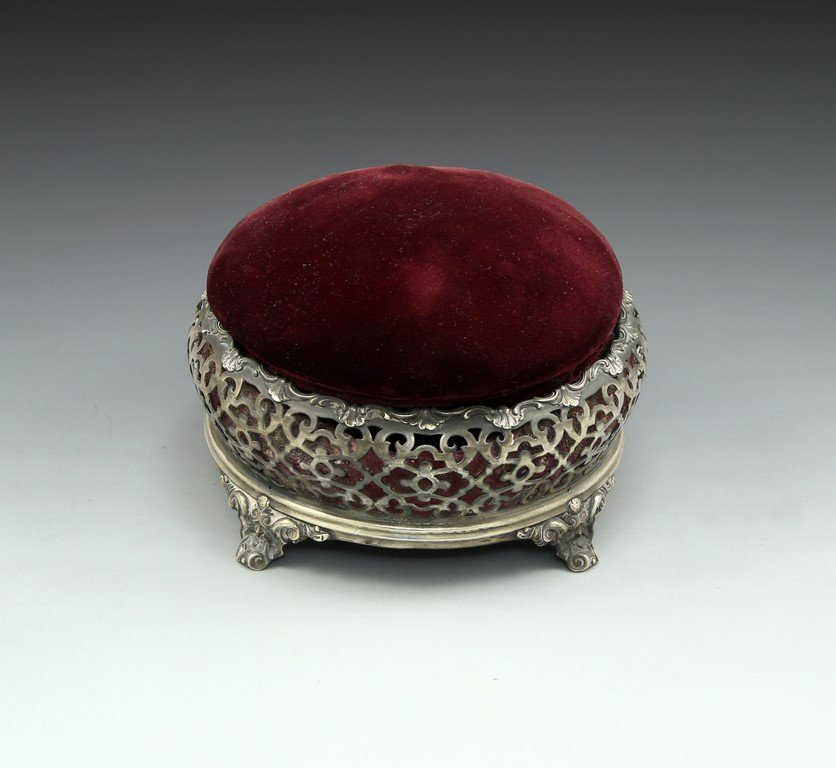 Victorian Silver Sewing Box