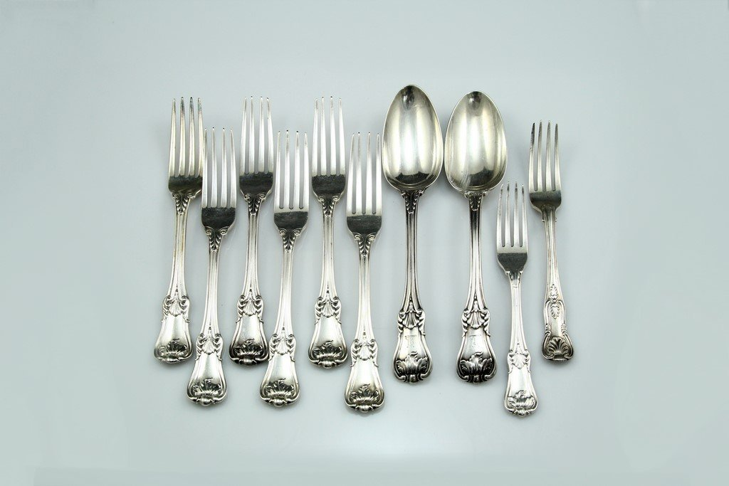 Lot of 19th Century English  Silver Cutlery