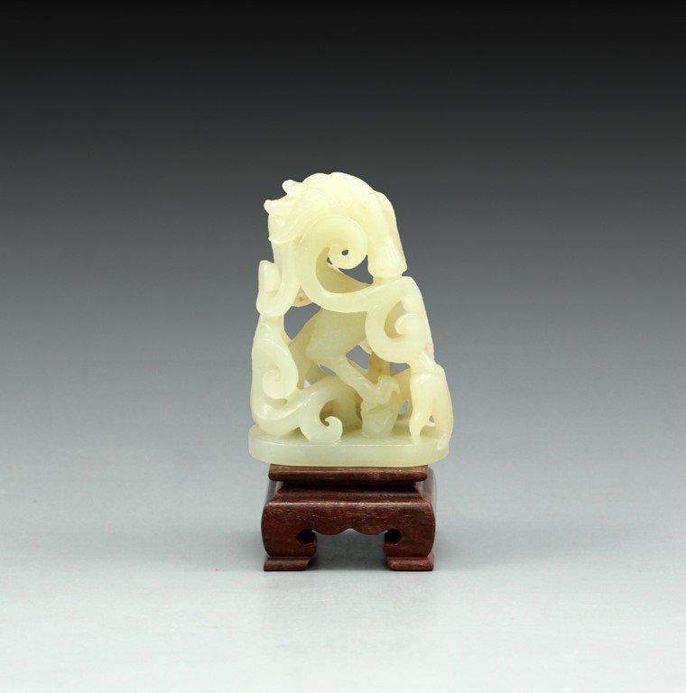 Chinese White Jade Figurine