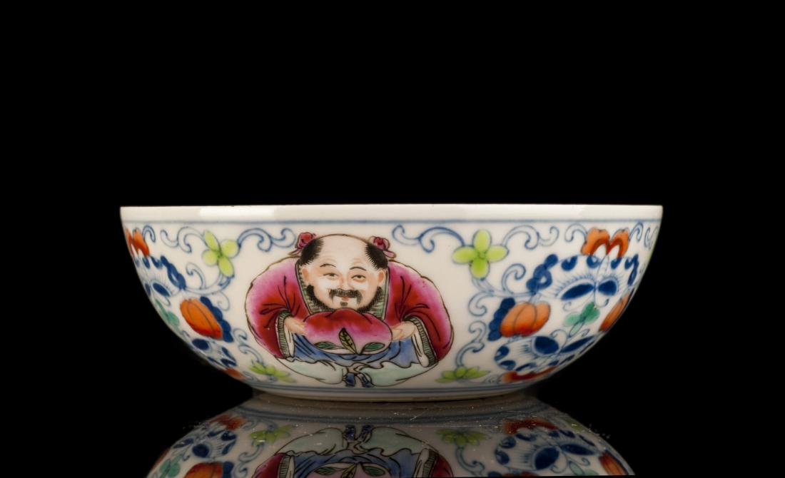 19thc Qing Style Features Porcelain Wash Pot