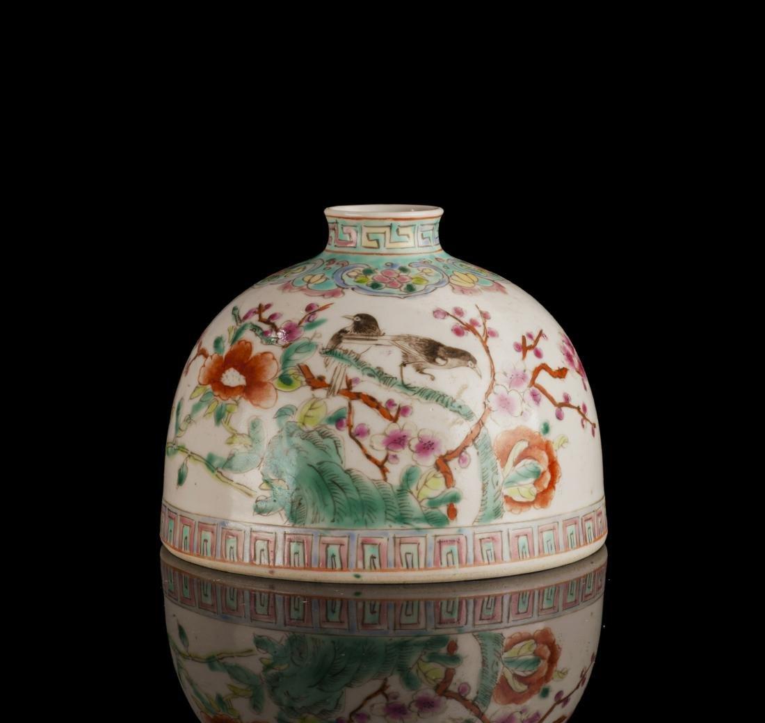 Early 20th Century Flower Pattern Porcelain Pot