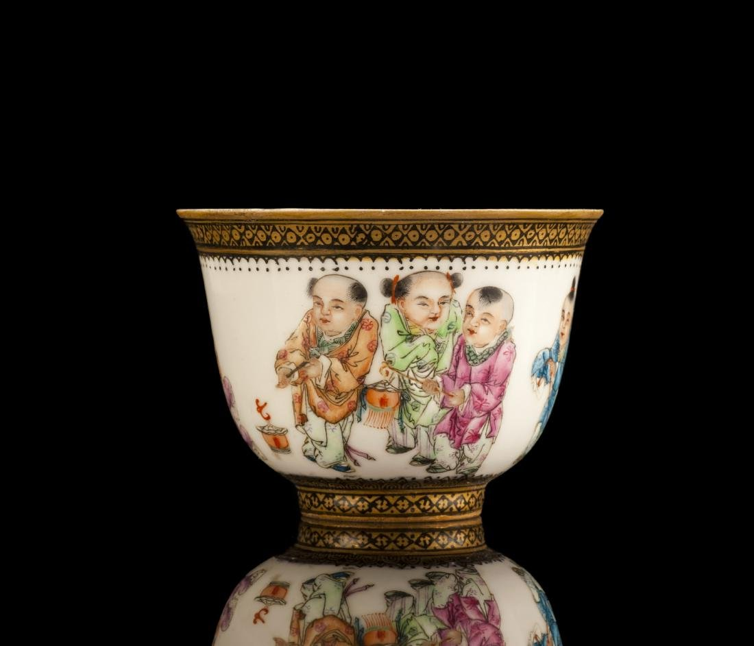 20th Century Gilt Enameled Porcelain Cup