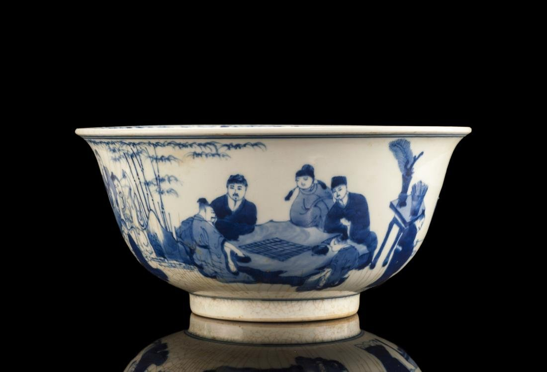 Blue and White Features Porcelain Bowl