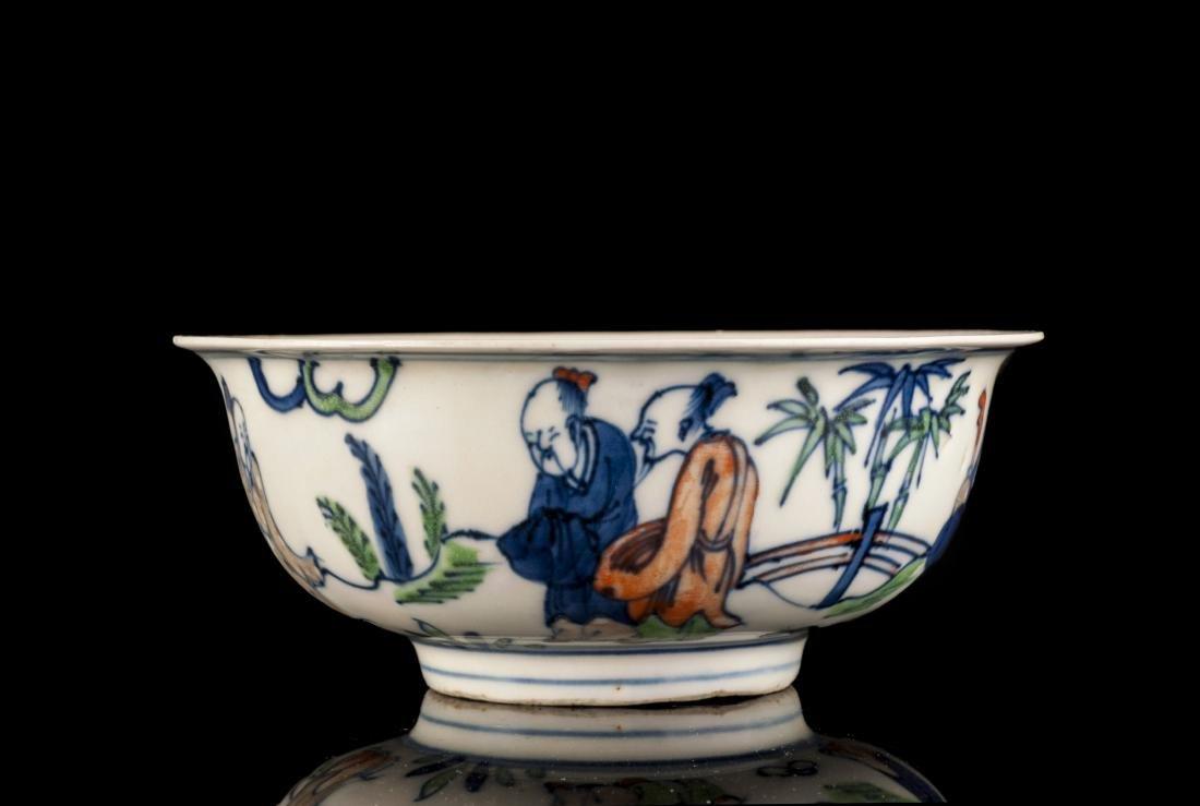 Doucai Contrasting Colors Porcelain Bowl
