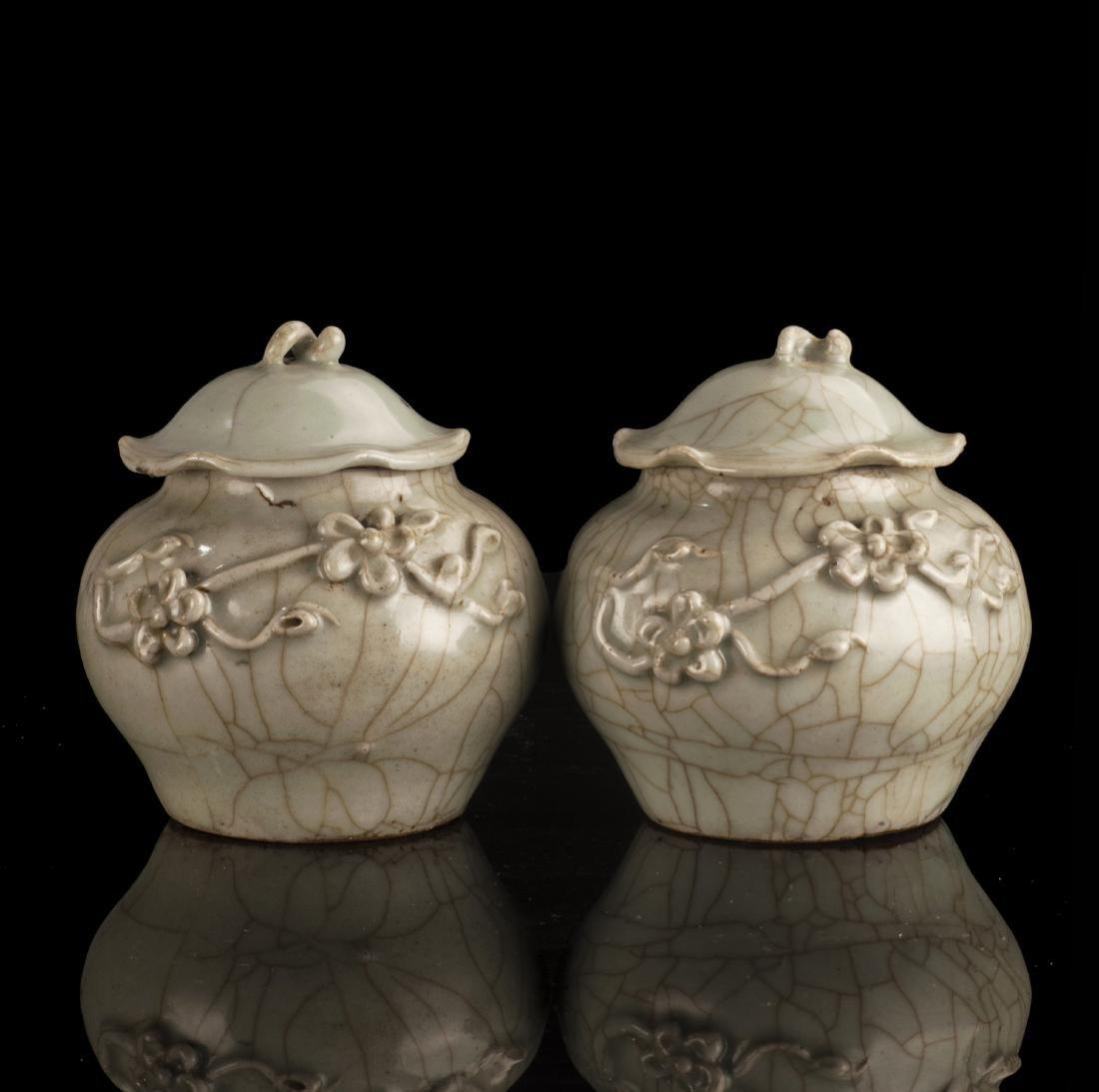 Ge-type  Glazed Enamel Porcelain Jars