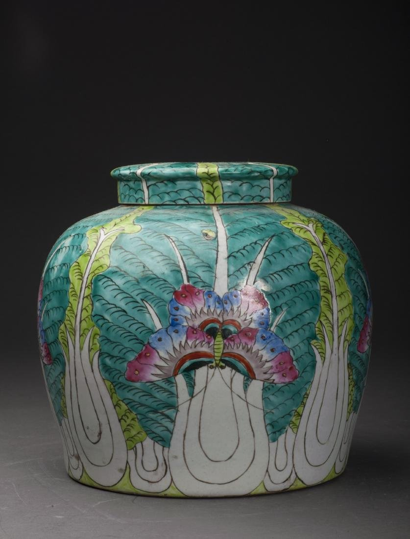 Chinese Cabbage Porcelain Jar