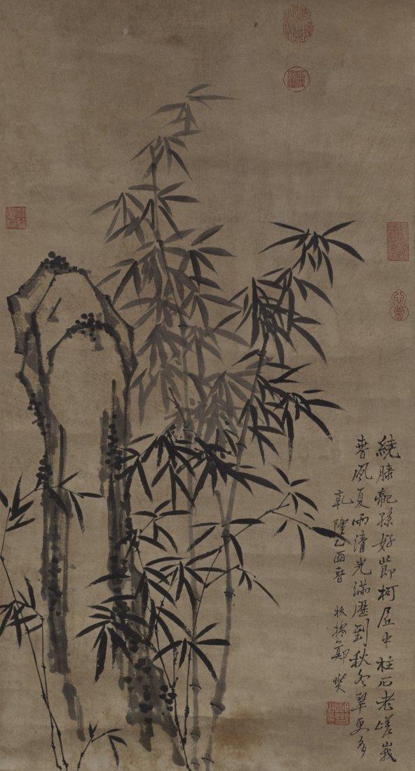 Chinese Bamboo Painting  ZhengXie (1693-1765)