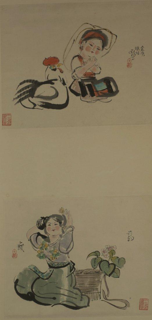 Painting People Sealed ChengShiFa(1921-2007)