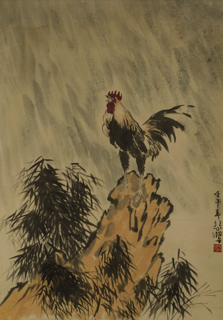 Rooster Painting Attributed toXuBeiHong(1895-1953)