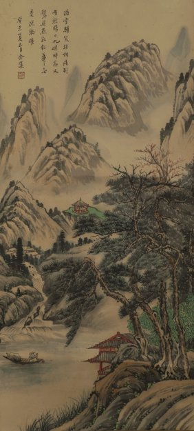 Ink Painting Of Mountain Landscaping