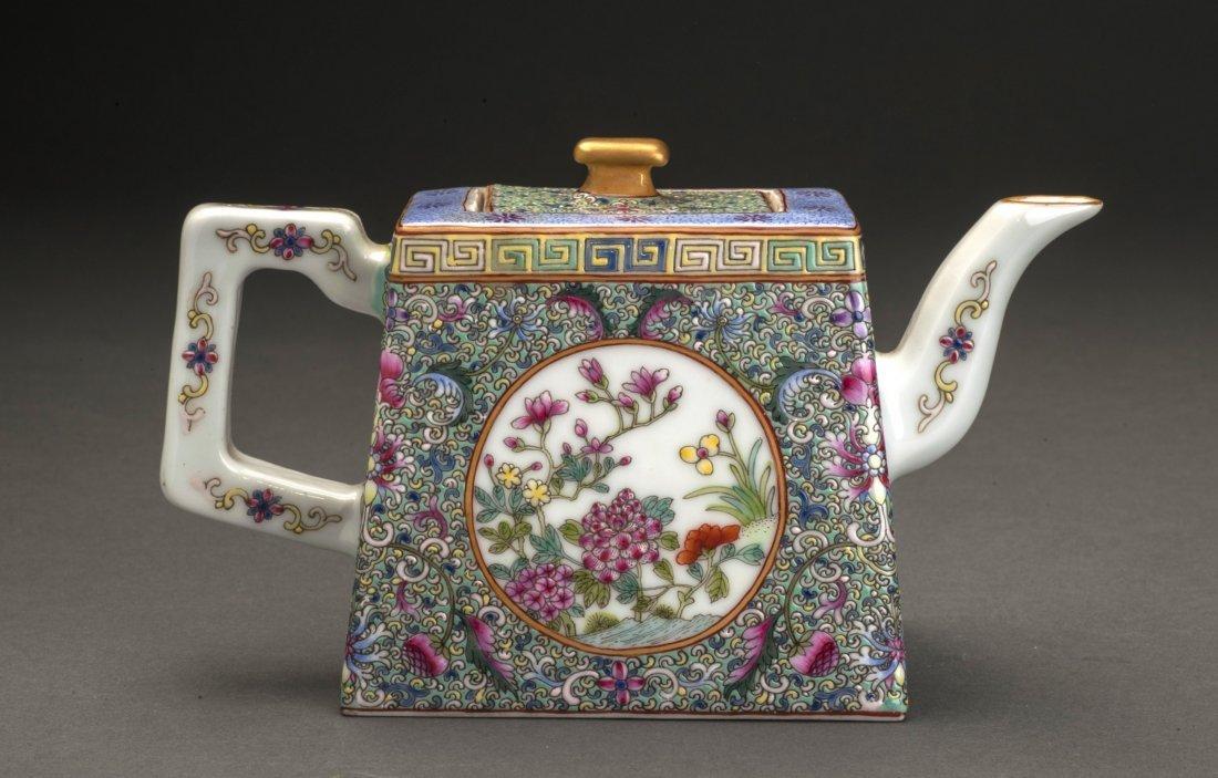 Five Colors Glazed Porcelain Water Pot