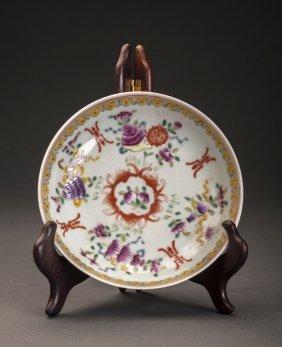 Later Qing Dynasty Enamel Glazed Porcelain Charger