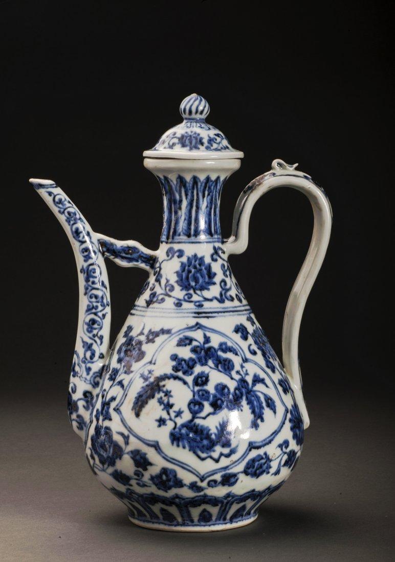 Blue And White Porcelain Wine Pot
