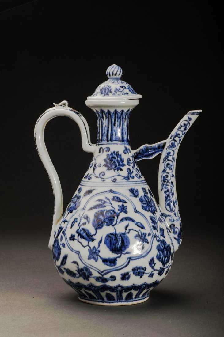Blue And White Porcelain Wine Pot - 2