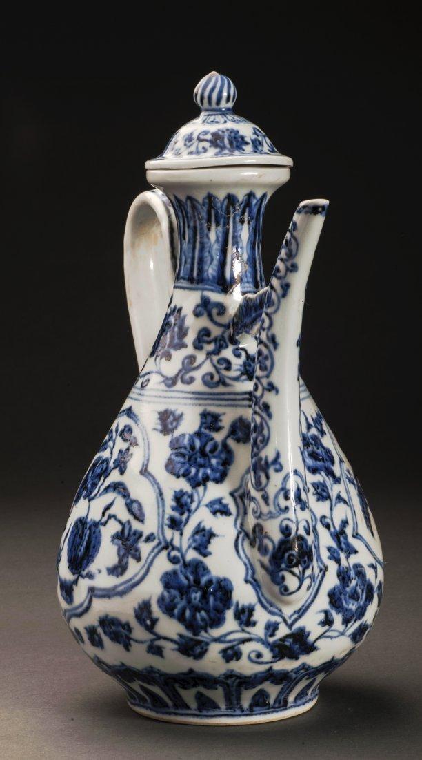 Blue And White Porcelain Wine Pot - 3