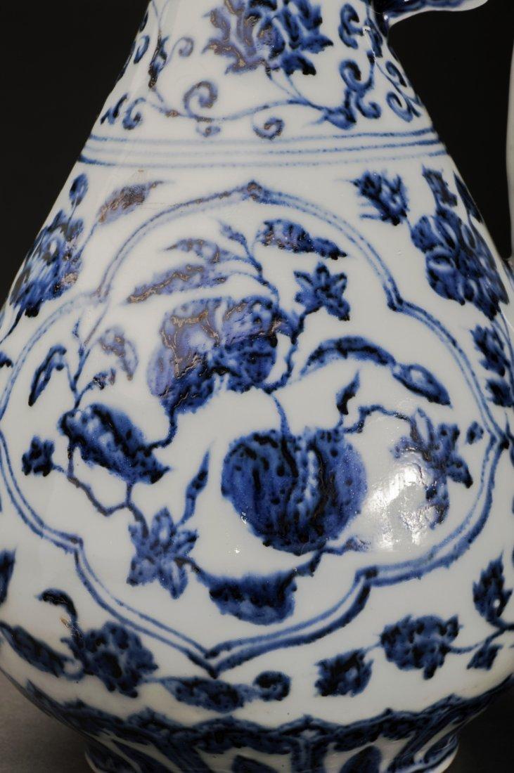 Blue And White Porcelain Wine Pot - 5